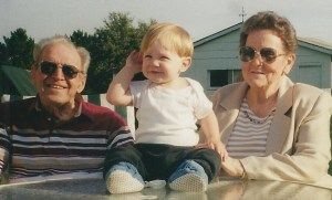Grandma and Papa with Isaiah during the spring of 2000